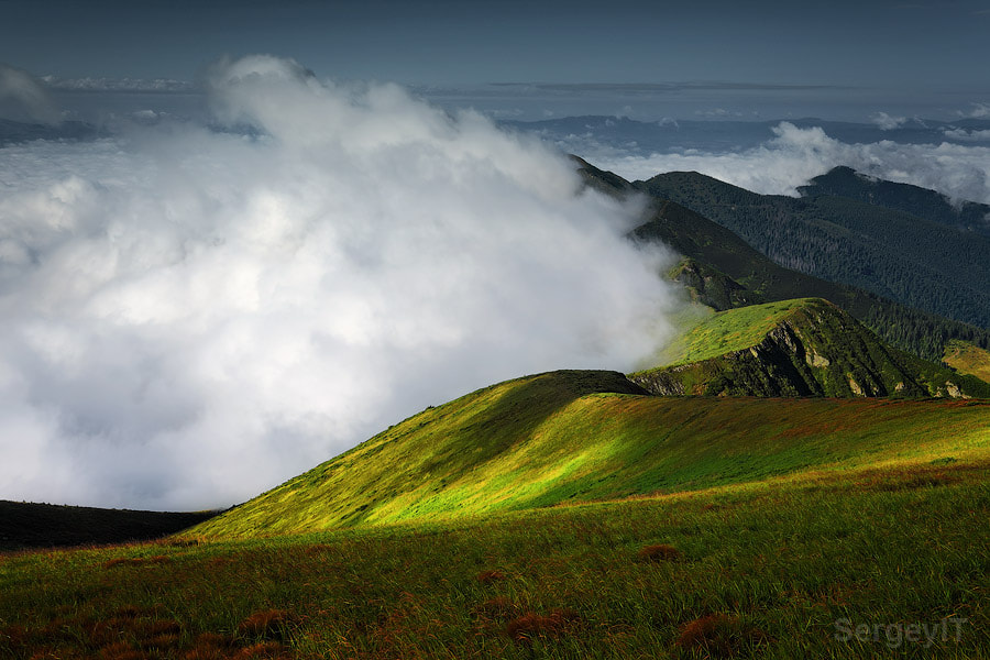 Photograph fluffy clouds over the mountains by Sergiy Trofimov on 500px