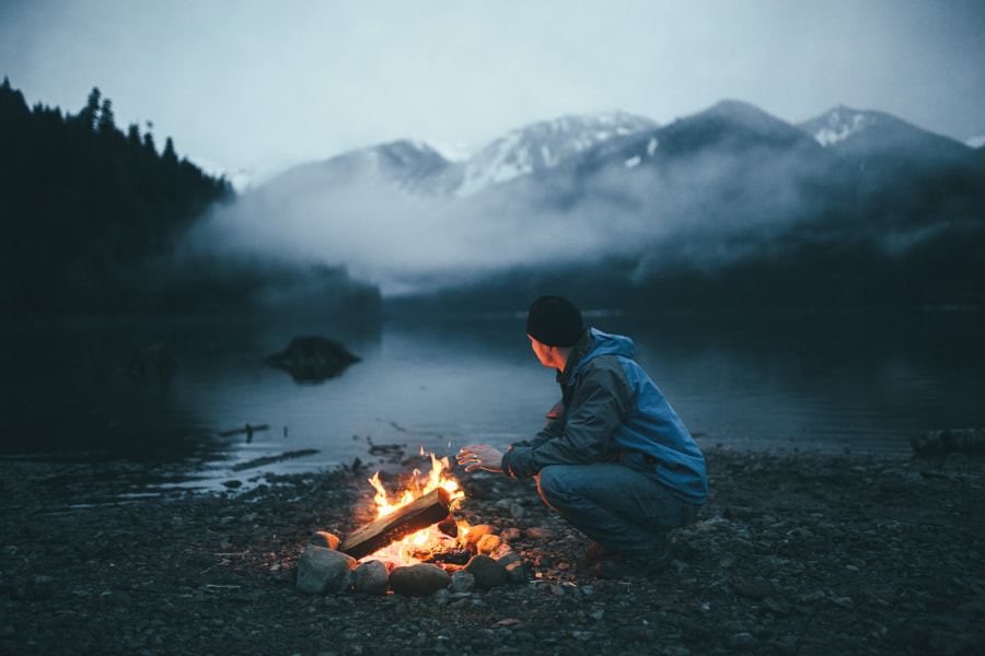 Blue Hour On Baker Lake by Dylan Furst on 500px.com