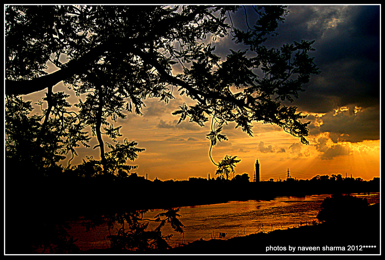 Photograph Monsoonic sunsetting view by naveen sharma on 500px