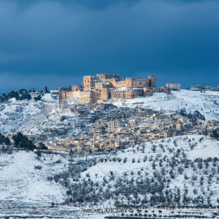 Krak des Chevaliers at winter