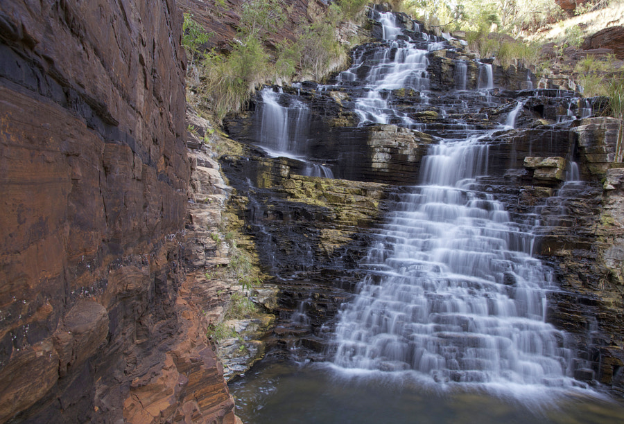 Stunning Fortescue Falls in Dales Gorge, Karijini National Park.