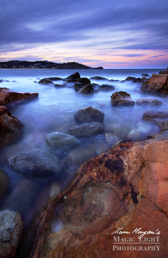 Photograph Twilight at Avoca Rocks by Kevin Morgan on 500px