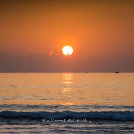 Sunrise on Sea Level., Sony ILCE-7, Canon EF 70-200mm f/4L IS