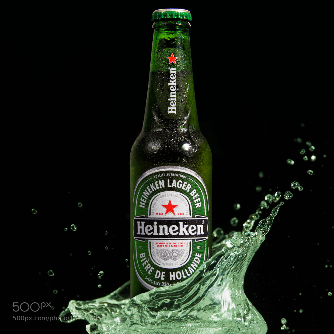 Photograph Heineken splash by Martin Cauchon on 500px