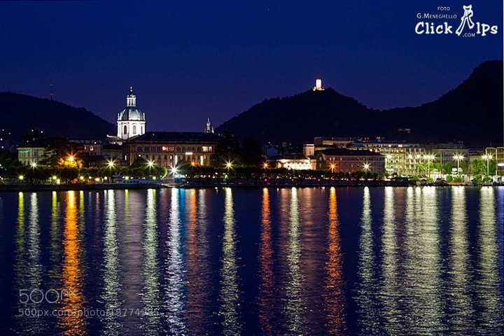 Photograph Como lake by night by Giacomo Meneghello on 500px