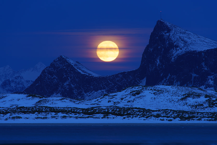Lofoten moonrise by Jens Klettenheimer on 500px.com