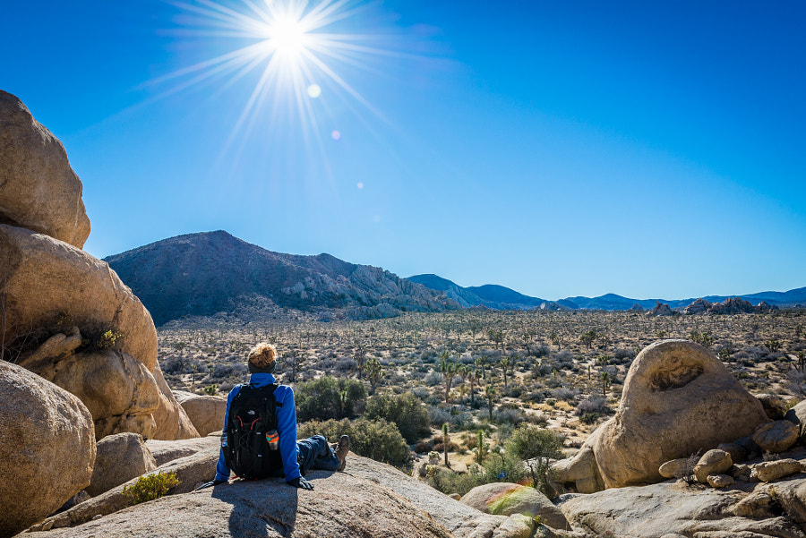 Enjoying the view after the hike to Baker Dam at Joshua Tree National Park, California by Konrad Dwojak on 500px.com