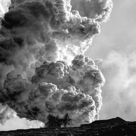 steam explosion as lava, Panasonic DMC-L1, OLYMPUS DIGITAL 40-150mm Lens