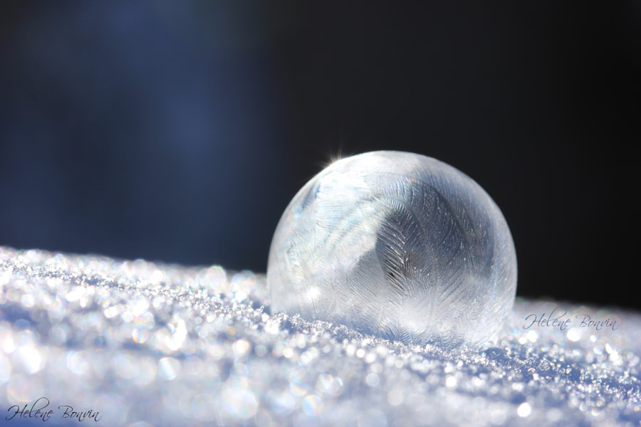 Frozen Bubble by Helene Bonvin on 500px