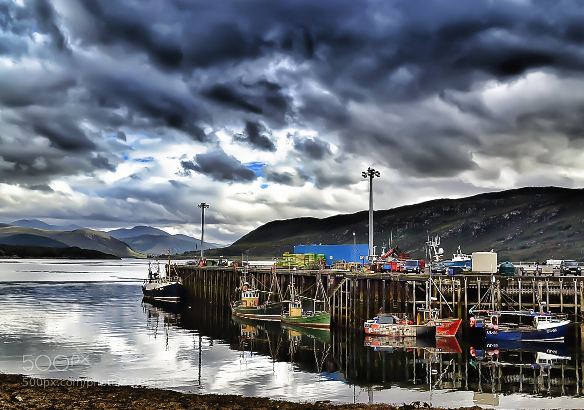 Photograph Ullapool harbour by Sarah Hughes on 500px