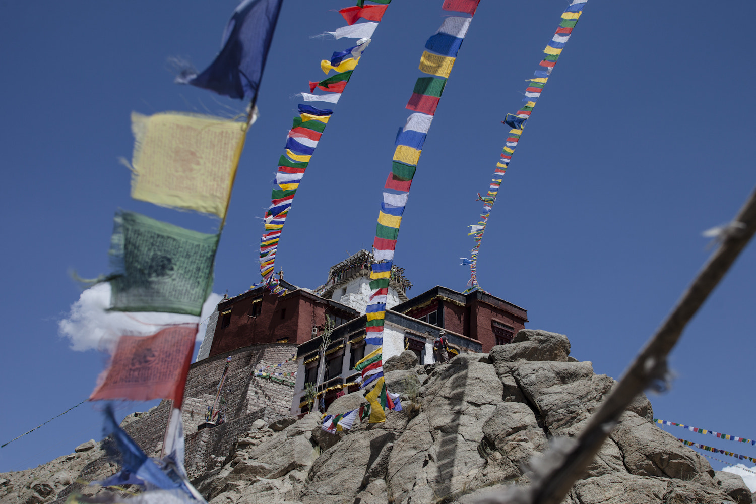 Photograph Tsemo Gompa, Leh by Olivier Heimana on 500px
