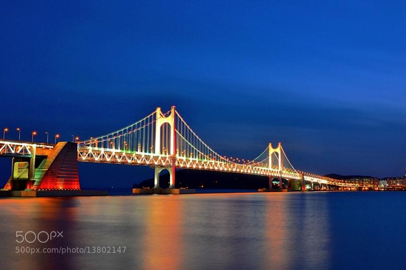 Photograph Gwangan Bridge by Khairul Nizam on 500px