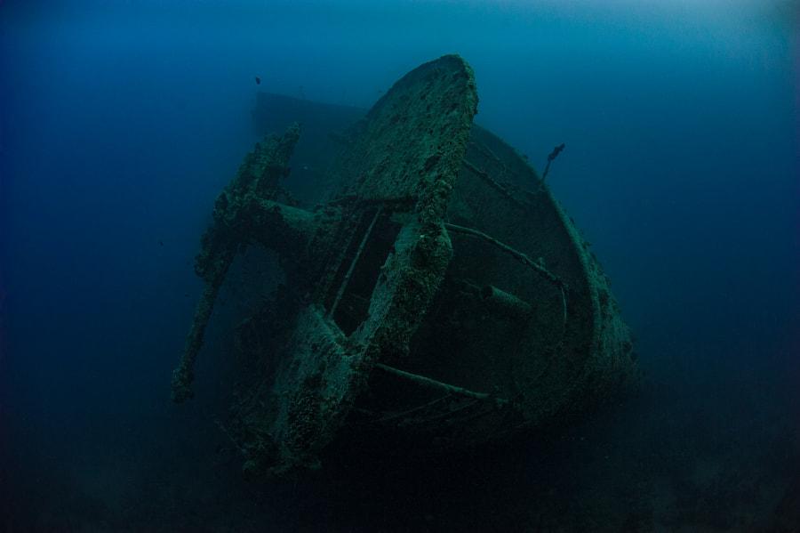Stern of SS Thistlegorm Wreck #3 in Red Sea