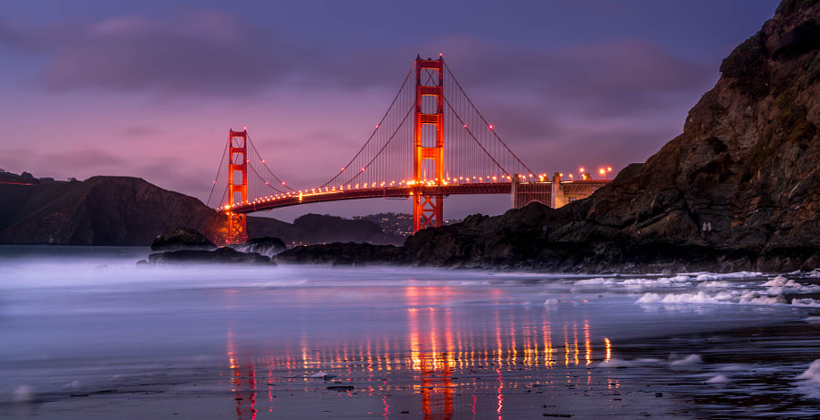 San Francisco Golden Gate reflexion by Ramelli Serge on 500px.com