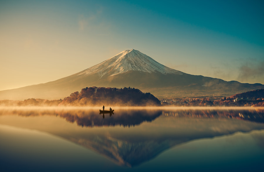 Mount fuji at Lake kawaguchiko,Sunrise by Pongnathee Kluaythong on 500px.com