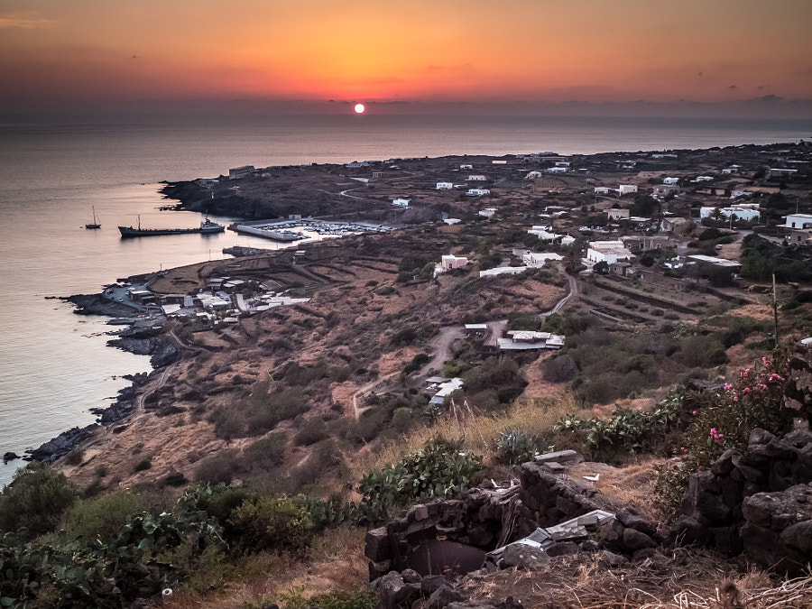 Sunset over Scauri - Pantelleria, Sicily