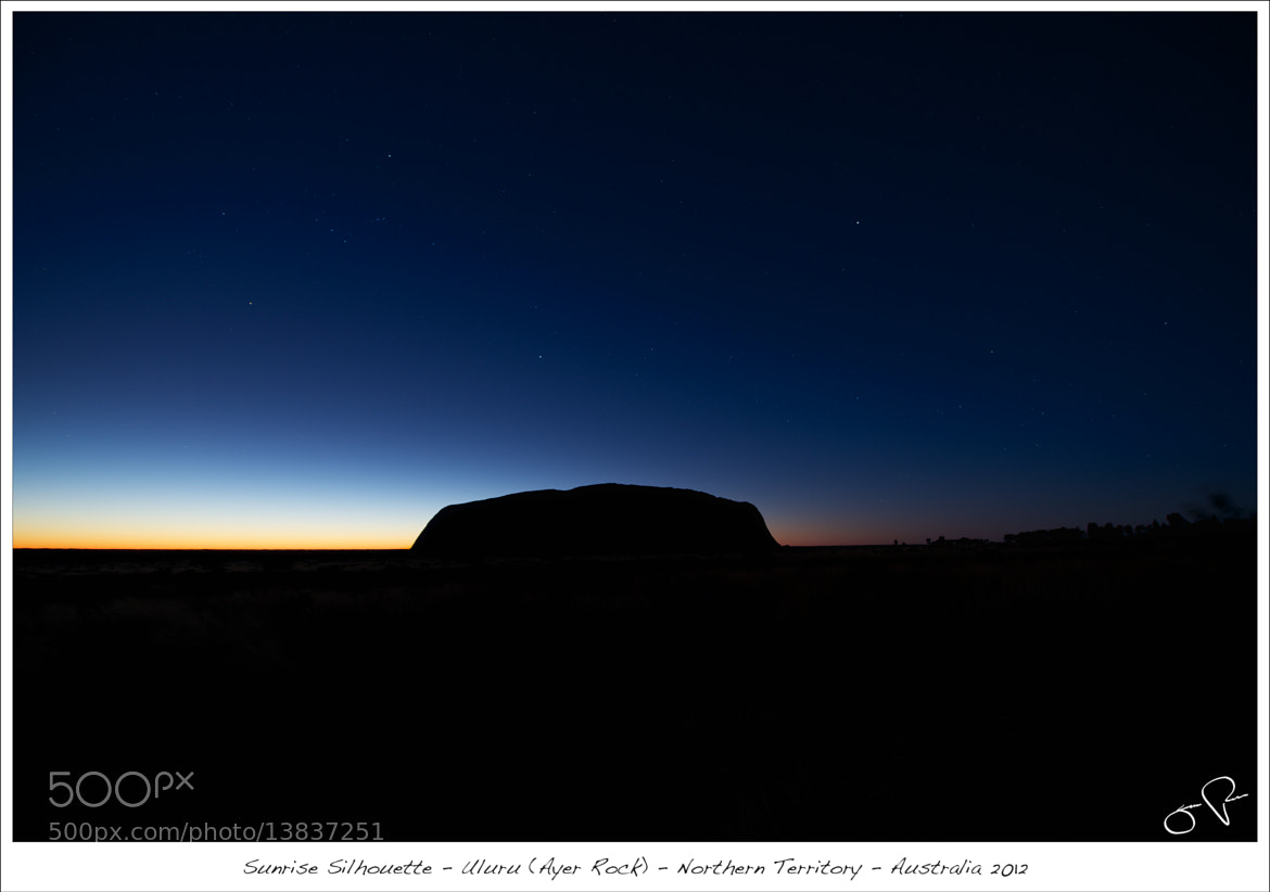 Photograph Uluru Silhouette by Jens Rudnick on 500px