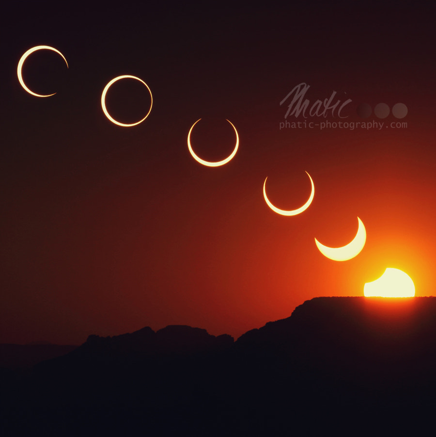 Photograph The Meeting - Annular Solar Eclipse by Viola Thalia on 500px