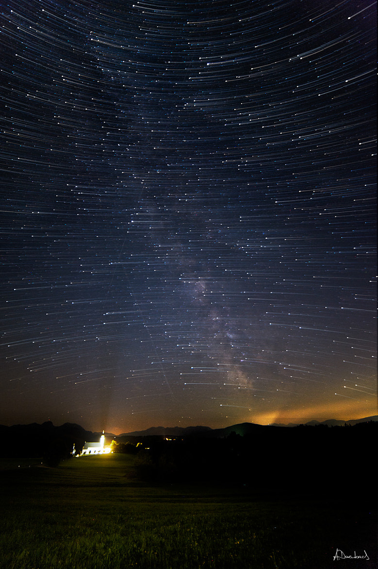 Photograph Wilperting - Startrails by Alexander Derenbach on 500px