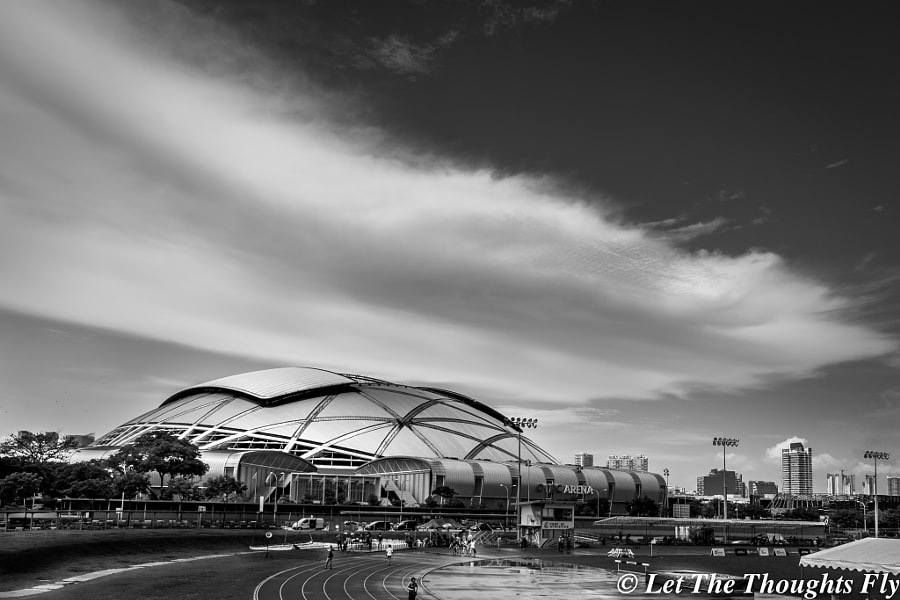 Cloud over Sports Hub by Francis Lim on 500px.com