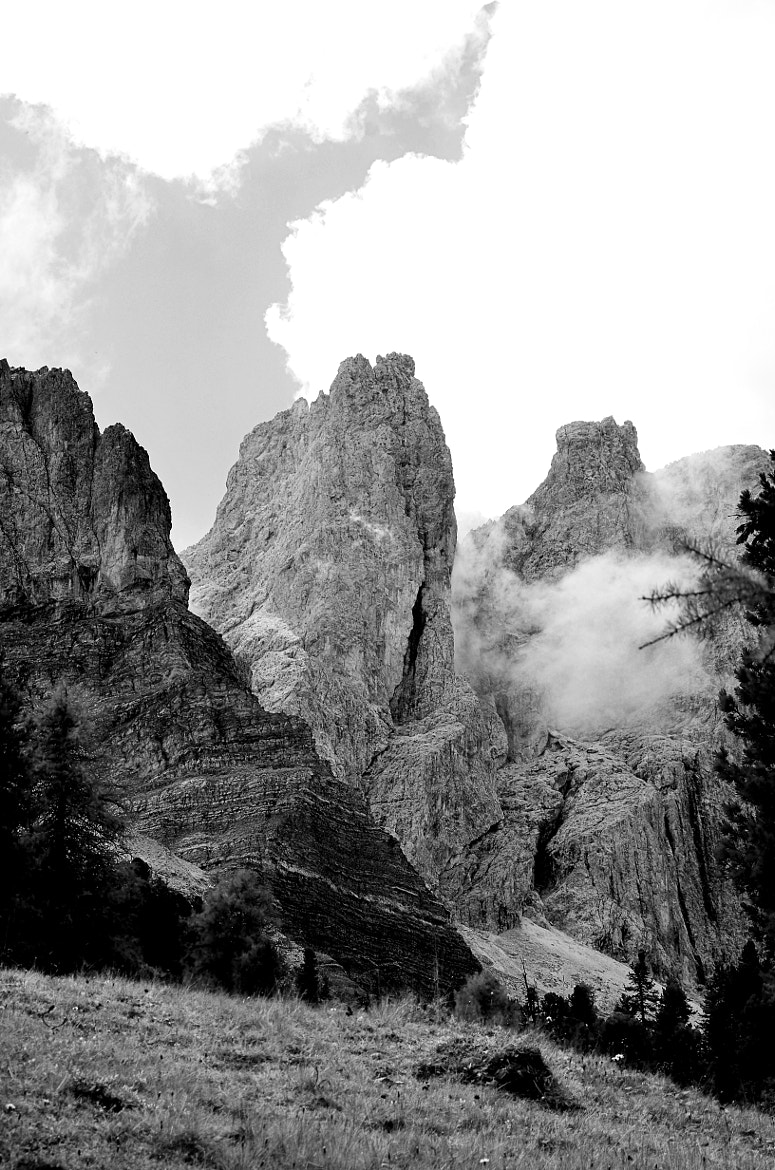 Photograph black and white mountains by Peter G. on 500px