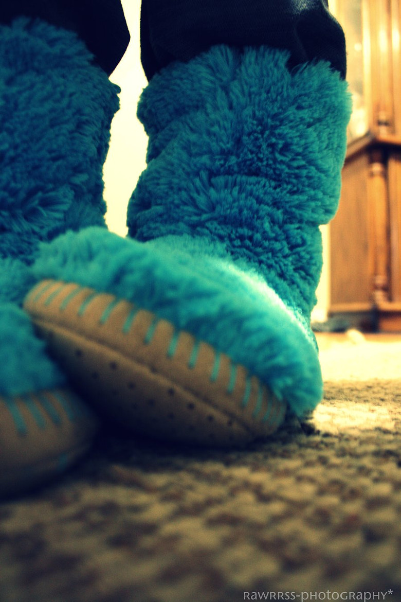 Photograph Cookie Monster Slippers. by Kayla Katona on 500px