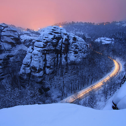 Belogradchik rocks in the winter(Bulgaria)
