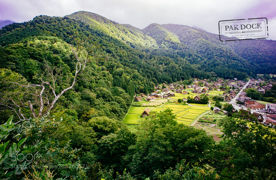 Panoramic view of Shirakawa-go