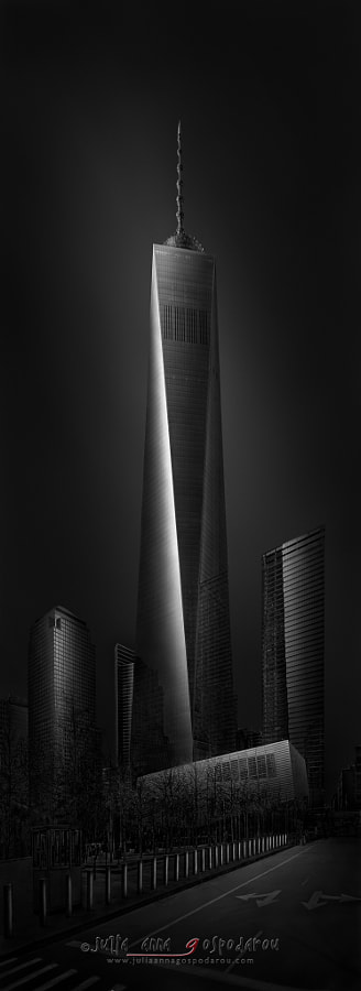 Fine Art Cityscape / landscape Photograph Urban Saga V – New York WTC 1 – Freedom Tower by Architectural and Landscape Photographer Julia Anna Gospodarou