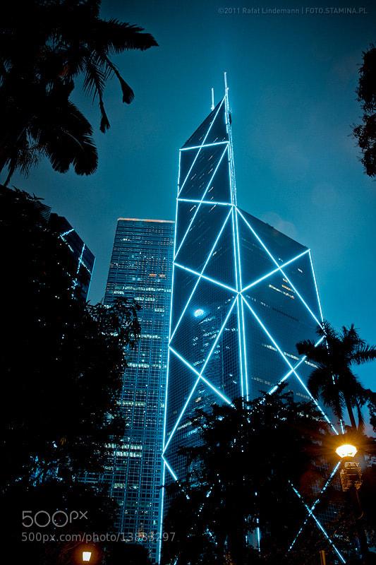 Photograph HongKong by night by Rafał Lindemann on 500px