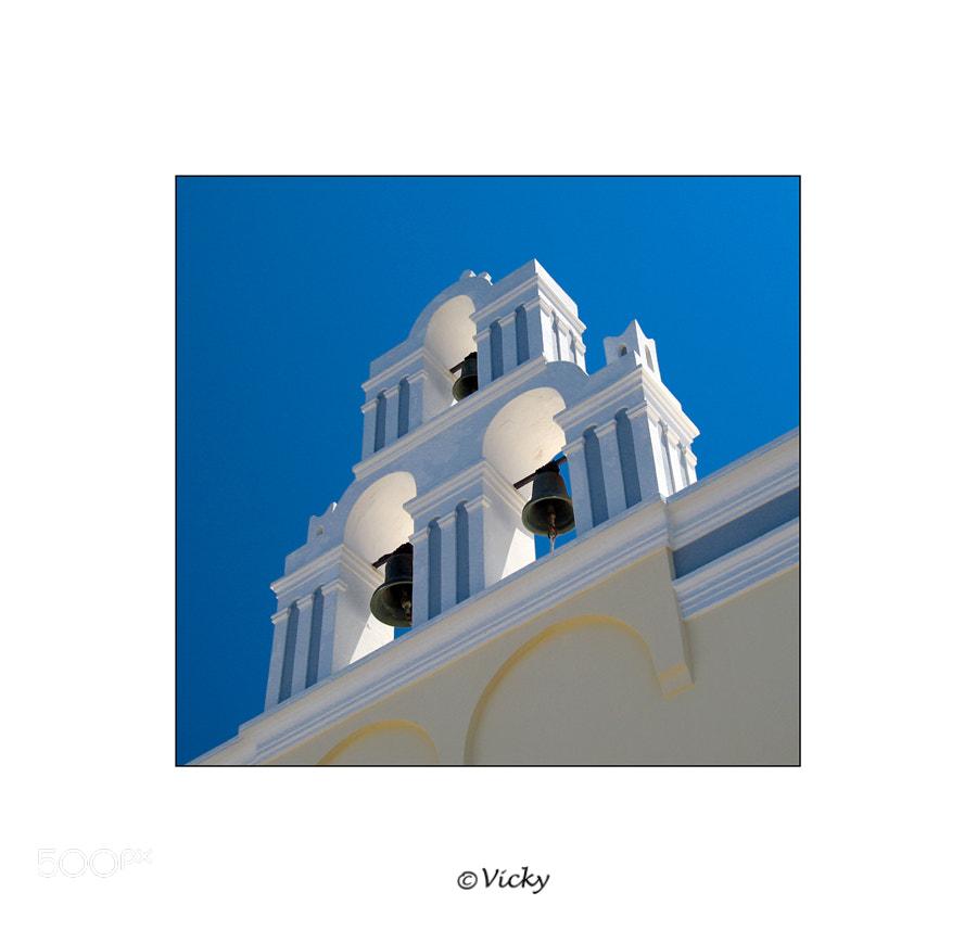 Photograph bells, Santorini by Vicky Dens on 500px