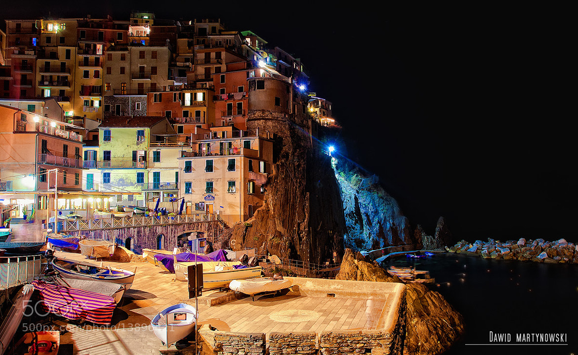 Photograph Manarola by night by Dawid Martynowski on 500px