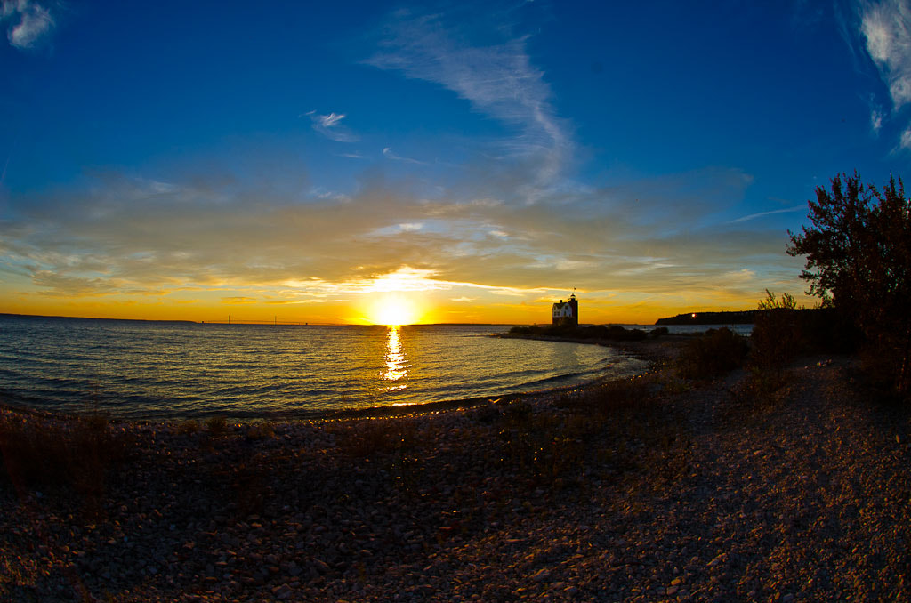 Photograph Sunset on Round Island, Michigan by Brian Posten on 500px