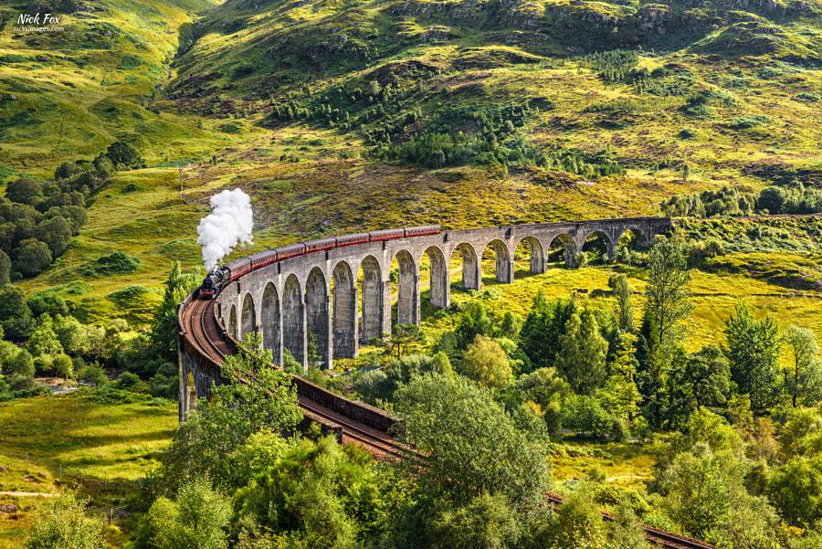 Glenfinnan Railway Viaduct in Scotland by Nick Fox on 500px.com