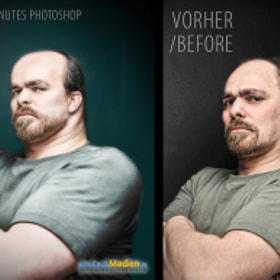 "Making of – ""It's me - after 20 minutes Photoshop"""