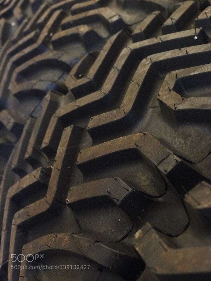 tractor tyre close-up