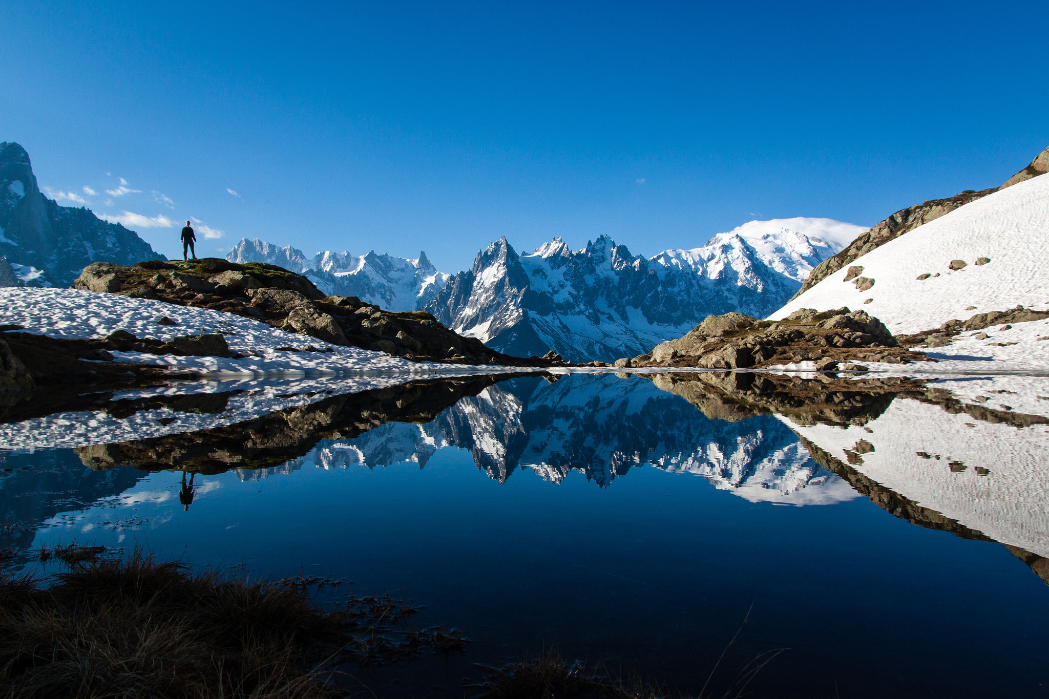 Photograph Reflections in the Aiguilles Rouges by Robbie Shade on 500px