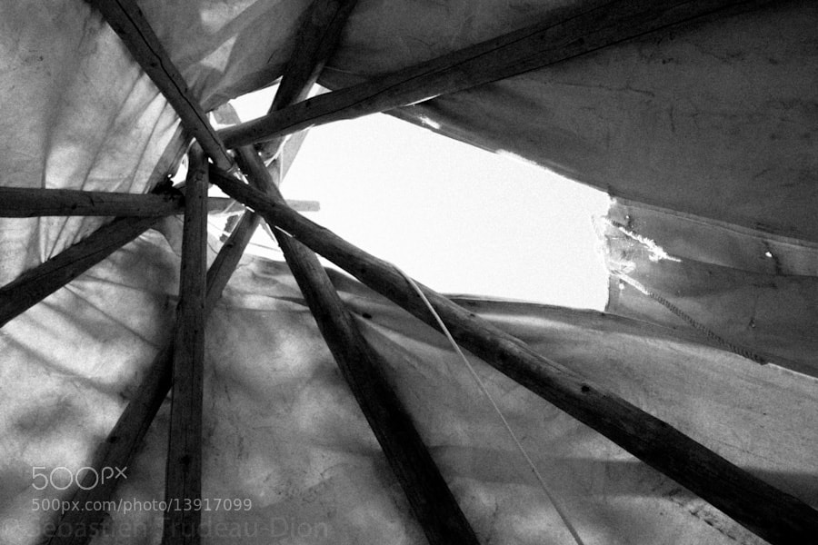 Photograph Inside of a Tepee by Sébastien  Trudeau-Dion on 500px