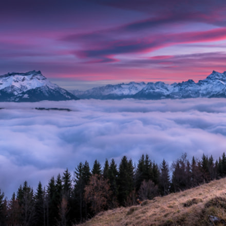 clouds sea in leysin switzerland