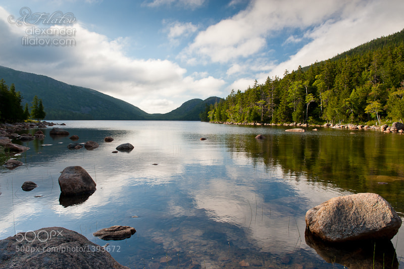 Photograph Jordan Pond Reflections by Alex Filatov on 500px