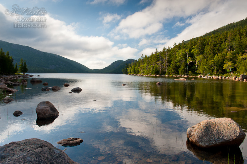 Photograph Jordan Pond Reflections by Alex Filatov | alexfilatovphoto.com on 500px