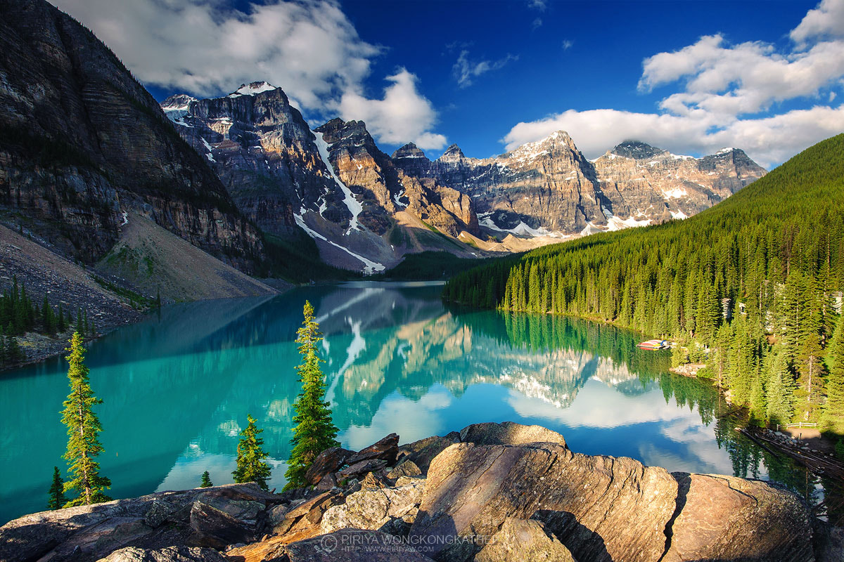Photograph Morain Lake by Pete Wongkongkathep on 500px