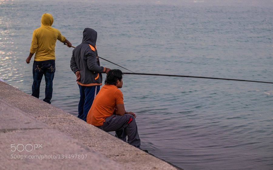 Colored fishermen