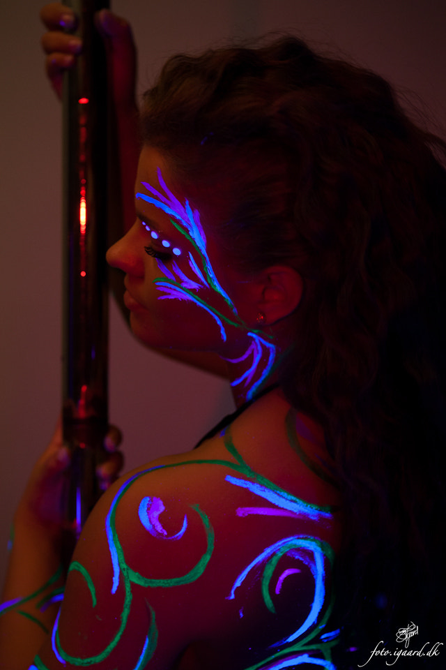 Photograph Shoot with UV paint and light 3 by Jan Igaard on 500px