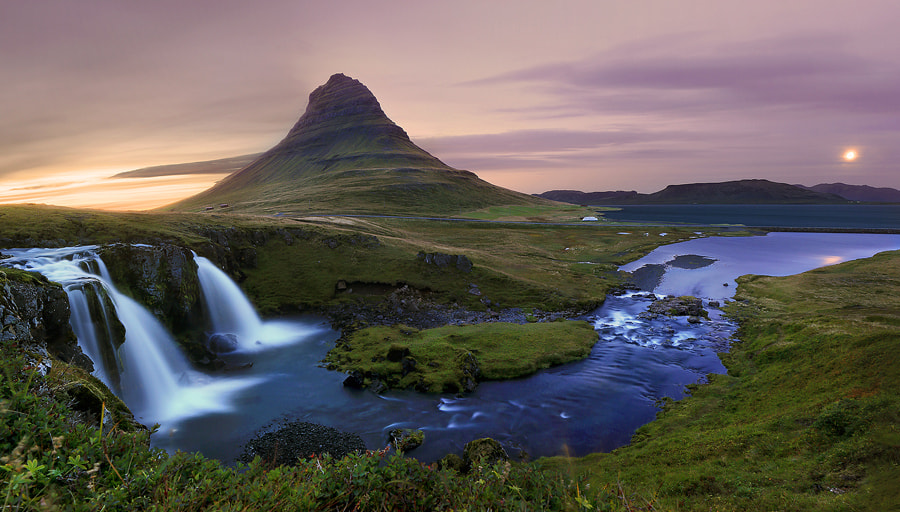 Photograph Kirkjufell Panorama by Christopher Waddell on 500px