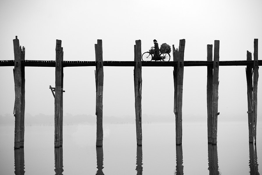 Myanmar, Mandalay, Armarapura, U Bein bridge by Sarawut Intarob on 500px.com