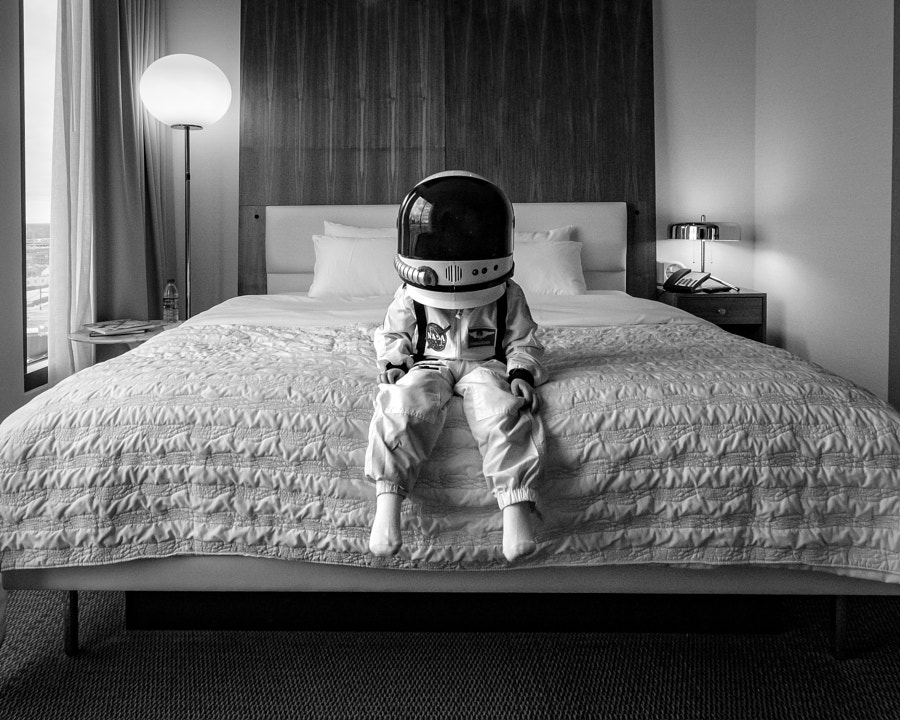 Not exactly how astronauts sleep in space...
