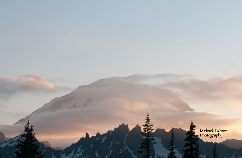 Photograph Mount Rainier at Dusk by Michael Wewer on 500px