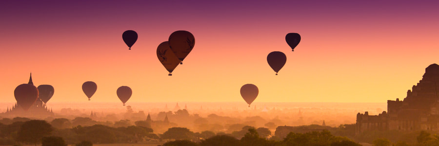 Bagan sunrise by Boris Ulzibat on 500px.com