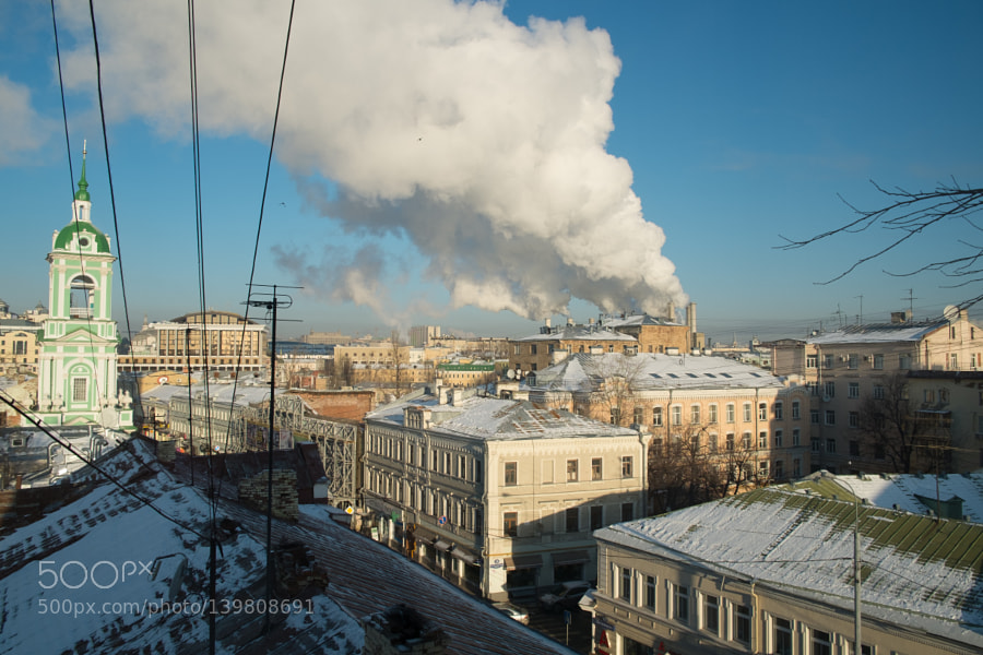 Steam from Moscow heating system